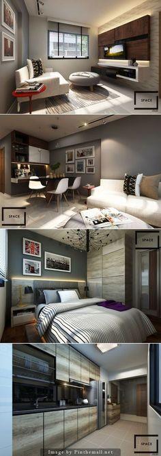 HDB 2 Room by Space Atelier Pte Ltd