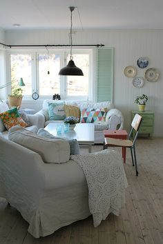 Loving the use of wooden shutters inside!