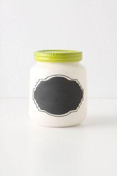 Chalkboard Spice Jar $12 - damn you, Anthropologie