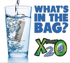 """X2O """"sachet"""" (the size of a small tea bag) is a unique product that is 100% natural and provides the body with vital minerals and electrolytes, increased hydration and a healthy alkaline boost. Order X2O at http://www.BuyX2O.com"""