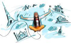 Viele Studenten träumen davon, beim Studieren im Ausland die Welt zu sehen.