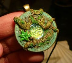 Viridian Talisman - handmade Pendant by Ganjamira on DeviantArt