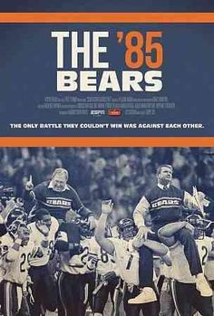 ESPN Films 30 for 30 - The Bears In 1985 the Chicago Bears dominated the game and embodied each little factor that encapsulated that memorable decade: Bears Football, Football Team, Football Baby, Chicago Bears Wallpaper, Super Bowl Shuffle, Understanding Football, 1985 Chicago Bears, Sports Head, My Kind Of Town