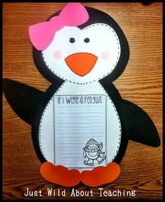Just Wild About Teaching: Playful Penguin Craft!