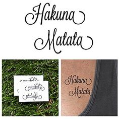 Tattify Hakuna Matata Temporary Tattoo - Calm (Set of 2) - Other Styles Available and Fashionable Temporary Tattoos - Tattoos that are Long Lasting and Waterproof *** Details can be found by clicking on the image. (This is an affiliate link and I receive a commission for the sales) #TemporaryTattoos