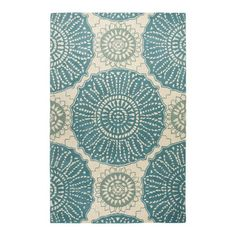 Waverly Rug in Aqua from the Delancey Studios