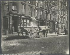 An ash cart works the streets, NY, 1896