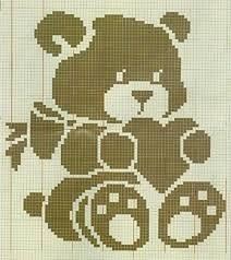 This Pin was discovered by Bon Crochet Patterns Filet, Graph Crochet, Crochet Bear, Crochet Motif, Cross Stitch Baby, Cross Stitch Charts, Cross Stitch Patterns, Chevron Baby Blankets, Baby Blanket Crochet