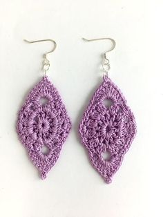Leaf Crochet Earrings
