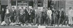 This great photo from the 1930's shows a group of Kirby salespeople in South Bend, Indiana. #history