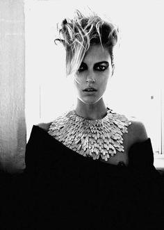 Anja Rubik in 'Gleams' by Emma Summerton for Vogue Italia