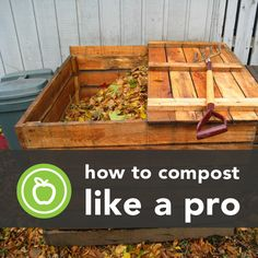 How to Compost Like a Pro.  Good use for pallets