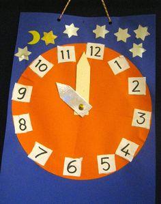 de klok Happy New Year, Kindergarten, Clock, Symbols, Winter, Pirates, Watch, Winter Time, Kindergartens