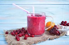 An astoundingly tasty smoothie with cranberries, tangerines and pomegranate. Rich in vitamins and sunny feeling, this smoothie is a summer favorite.