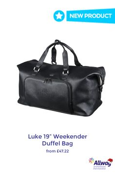 54171cce6312 Luxe Weekender Duffel Bag from Allwag Promotions -