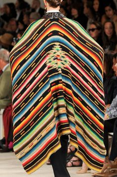 Ralph Lauren Spring 2013 - Details Gavan ,sarape our Pancho   3 DIFERENT WAYS TO CALL HIS ..,Traditional clouding in Mexico