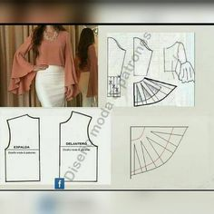 Sewing Clothes Patterns All Things Sewing and Pattern Making Dress Sewing Patterns, Blouse Patterns, Clothing Patterns, Blouse Designs, Make Your Own Clothes, Diy Clothes, Fashion Sewing, Diy Fashion, Sewing Sleeves