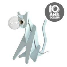 Lampe Get Out Chat Bleu - Enostudio x Fleux'