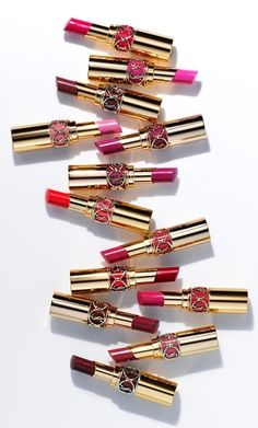 Lipstick coverage & glossy shine. YSL Rouge Volupte Shine