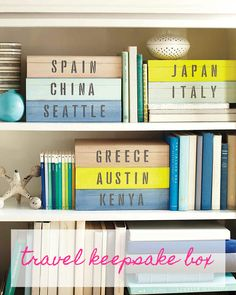 Have lots of little trinkets and souvenirs from your travels? A little paint and a set of stencils can help transform a plain box into decorative storage that can hold all of your keepsakes -- and double as decor!