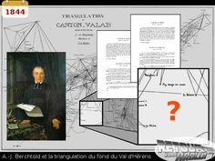 1844 - A. Berchtold et la triangulation dans le fond du val d'Hérens Dan, Diagram, Once Upon A Time