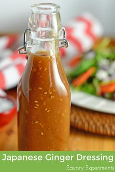 Japanese Ginger Dressing is a copycat recipe of many Japanese steakhouses like Benihana and Kobe. Sweet ginger and sesame can be a salad dressing or marinade.