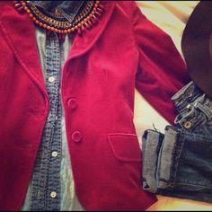 Ann Taylor velvet blazer Beautiful velvet fuchsia blazer. Good condition. Fits like a 2 Ann Taylor Jackets & Coats Blazers