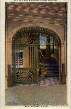 Old Gate and Stairway Spanish Cabildo