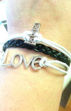Derrick Oilfield Love Layered Bracelet Oil Rig-- CUSHING, OK PICKUP on Etsy, $5.00