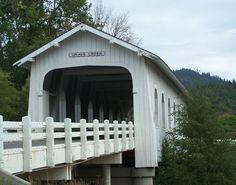 Hoffman Covered Bridge, Crabtree Creek, Scio Oregon