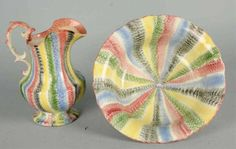 Spatterware Bowl and Pitcher sold for 19,200 at Auction!