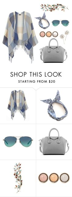 """""""Blue and Grey"""" by pear-drop ❤ liked on Polyvore featuring Dorothy Perkins, Tiffany & Co., Givenchy, By Terry, Jennifer Behr, women's clothing, women, female, woman and misses"""