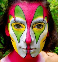 Clown face paint by Allison Cooper of Asheville, NC