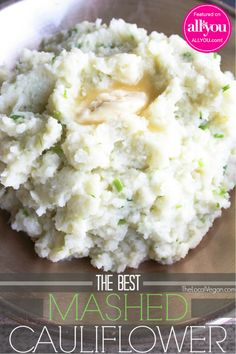 This is an amazing substitute for mashed potatoes! The Best Mashed Cauliflower * 1 lb bag) of frozen cauliflower florets * 2 tbsp vegan butter, I use earth balance * 1 clove of garlic, minced or grated. * Salt and pepper * 2 tbsp fresh . Raw Food Recipes, Vegetable Recipes, Low Carb Recipes, Vegetarian Recipes, Cooking Recipes, Healthy Recipes, Lunch Recipes, Vegan Vegetarian, Cooking Bacon