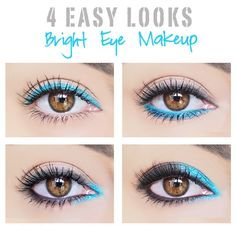 4 Easy Eye Makeup Looks Using Bright Colors | Beauty Lovers