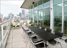 #District #Loft #Toronto Outdoor Furniture, Outdoor Decor, Sun Lounger, Terrace, Toronto, Conference Room, Loft, Space, Table