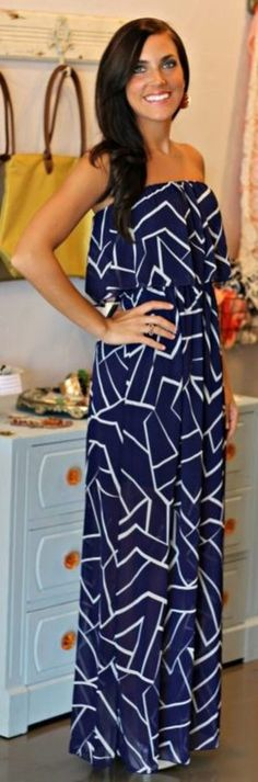 Chiffon Navy Dress