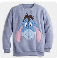With adorable artwork and super-snuggly fabric, this Eeyore top is the ultimate winter loungewear. Eeyore features embroidered detail and a soft, plush face – complete with a rare smile! Disney Dresses, Disney Outfits, Disney Clothes, Pixar, Personalized Tee Shirts, Kids Nightwear, Winnie The Pooh Friends, Disney Costumes, Eeyore
