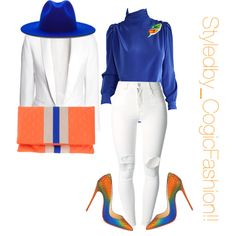 Untitled #506 by cogic-fashion on Polyvore featuring St. John, H&M, (+) PEOPLE, Christian Louboutin, MSGM, Tiffany & Co., Études, women's clothing, women's fashion and women