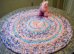 Handmade Pink and Aqua Blue Girls Rug  For by Karenhugheskreations, $55.00 https://www.etsy.com/listing/169340314/handmade-pink-and-aqua-blue-girls-rug?ref=pr_shop