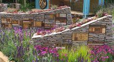 Wundervolles Design für ein Insektenhotel.