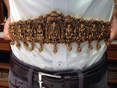 My gold nakashi waist belt Antique Jewellery Designs, Gold Jewellery Design, Indian Wedding Jewelry, Indian Jewelry, Gold Temple Jewellery, Gold Jewelry, Frozen Jewelry, Waist Jewelry, Gold Choker Necklace