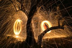 Out for a Spin: Light Painting with Steel Wool
