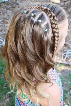 Red Inward Braids for Rocking Queens - 20 Under Braids Ideas to Disclose Your Natural Beauty - The Trending Hairstyle Cute Braided Hairstyles, Cute Girls Hairstyles, Hairstyles For School, Pretty Hairstyles, Hairstyle Ideas, Hair Ideas, Little Girl Braids, Girls Braids, French Braid Ponytail