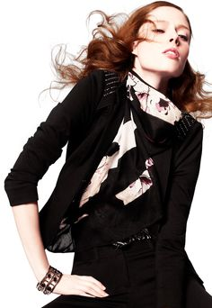 Awesome black jacket with some shine on the shoulders - love it!!  #whbm #cocorocha  Jamey calls this my Michael Jackson jacket.
