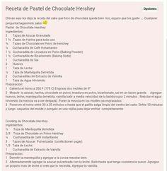 Hersheys cake & frosting