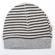 Grey Kidscase Oliver organic hat - Super soft baby striped hat. £9.95 + Free P&P