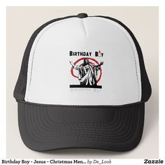 Birthday Boy - Jesus - Christmas Men's Trucker Hat - Urban Hunter Fisher Farmer Redneck Hats By Talented Fashion And Graphic Designers - #hats #truckerhat #mensfashion #apparel #shopping #bargain #sale #outfit #stylish #cool #graphicdesign #trendy #fashion #design #fashiondesign #designer #fashiondesigner #style
