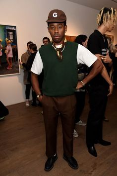 Fotografía de noticias : Tyler, The Creator attends the Renell Medrano and. Tyler The Creator Fashion, Tyler The Creator Outfits, Patrick Schwarzenegger, Steve Mcqueen, Golf Fashion, Mens Fashion, Tyler The Creator Wallpaper, Kanye West, Young T