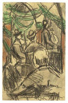 Ernst Ludwig Kirchner, IM BIERLOKAL - 1904